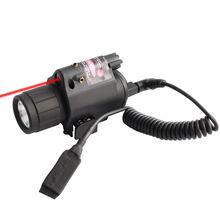 Тактический фонарь красный лазерный прицел светодиодный фонарик