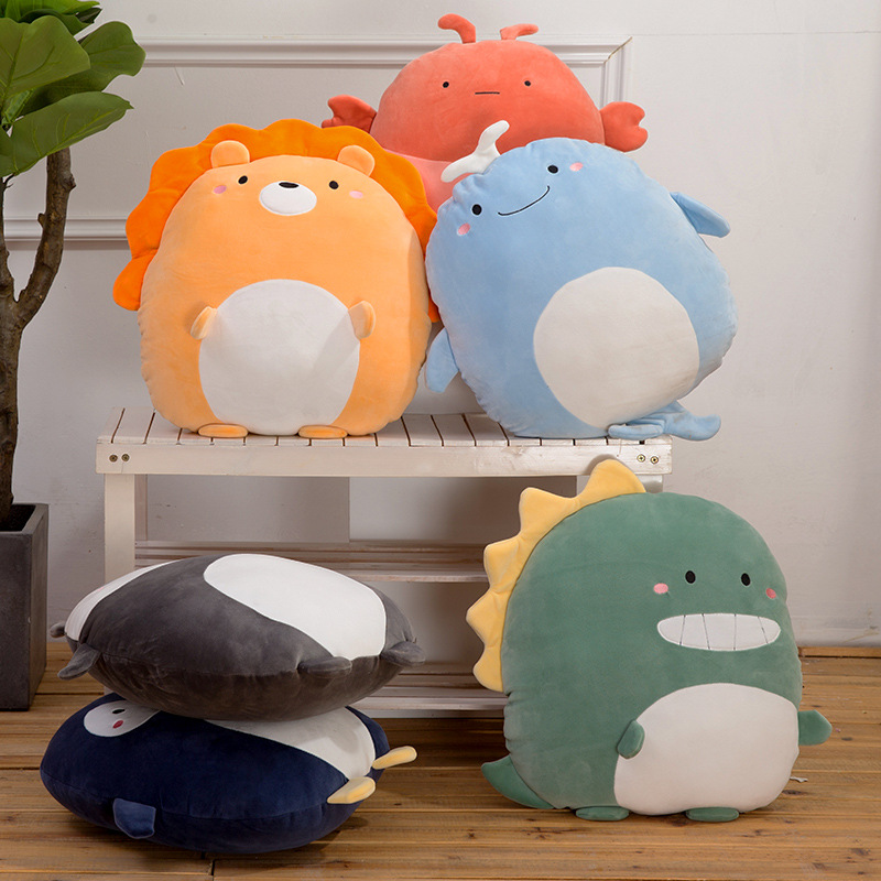 Toy Cushion Pillow-Cetacean Lobster Lion Penguin Lobster Dinosaur-CuteBabyRoomBabyShower Cartoon Gift Nursery Decorative ChairPads FloorPads