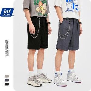Мужские повседневные шорты INFLATION, быстросохнущие однотонные свободные шорты с карманом, компрессионные короткие шорты 3001S