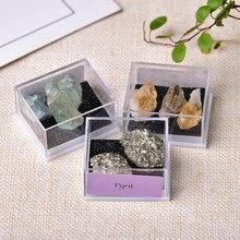 Espécimen Mineral Natural de cuarzo Natural para niños, adornos de cristal Natural, piedra curativa, decoración del hogar, regalos para enseñanza, 1 caja