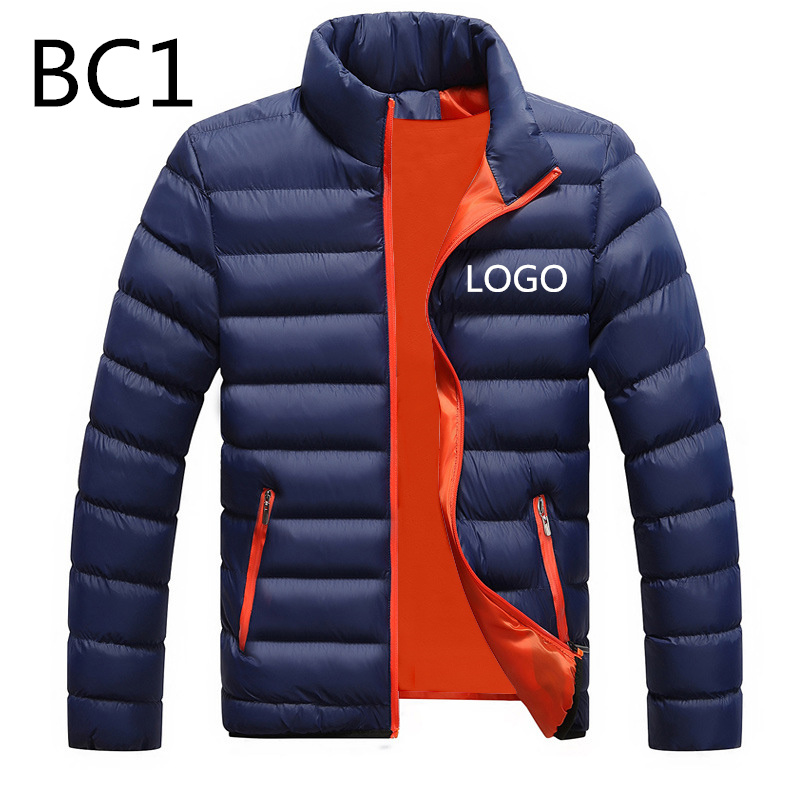 BC1 New Men's Duck Down Jackets Printed Custom Velvet Male Winter Warm Fleece Unisex Man MC Light Slim Duck Casual Large M-6XL