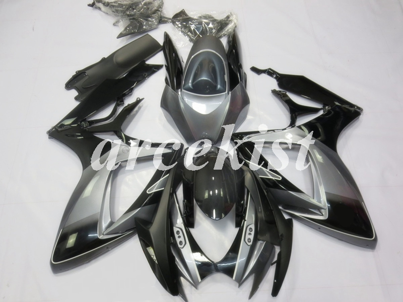 New ABS Full <font><b>Fairings</b></font> Kit Fit For SUZUKI GSX-R600 GSX-R750 06 07 R600 R750 K6 <font><b>GSXR</b></font> <font><b>600</b></font> 750 <font><b>2006</b></font> 2007 body set black gray image