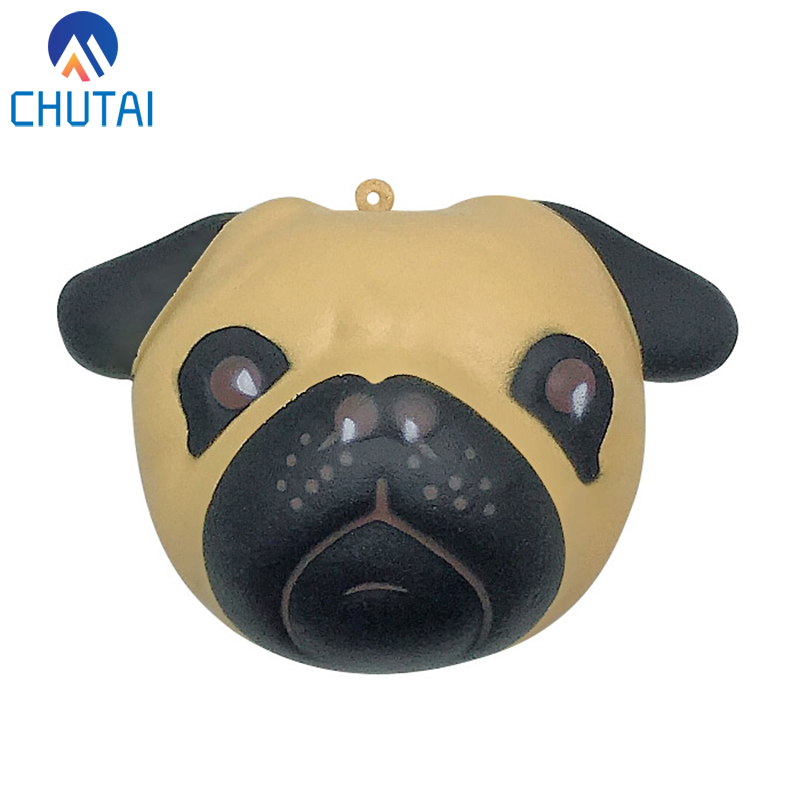 Kawaii Dog Face Bread Squishy Slow Rising PU Toys Phone Strap Charm Pendant Squishes Soft Scented Kid Toy Gift 11*8CM
