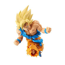 Dragon Ball Super Saiyan Son Goku Kakarotto choque figura de acción juguetes muñeca Dragon Ball Z figurita PVC Anime modelo coleccionable(China)