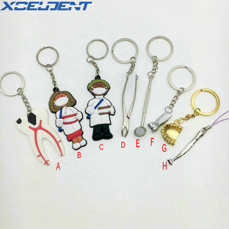 1pcs Gift Dentistry Clinic Assorted Keychain Key Chain Great Present For Dentist Lab