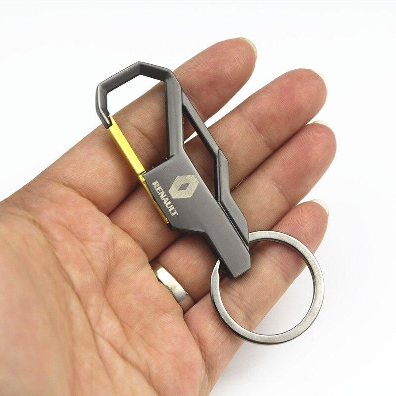 1 шт. 3D металлический ключ для авто кольцо эмблема брелок Reynolds аксессуары автомобильный брелок для Renault Megane 2 3 Duster Logan Clio Laguna 2