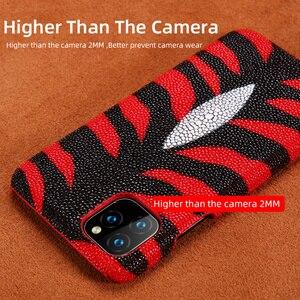 Image 2 - 本革パールgourami Fhx 39kラグジュアリー携帯電話のケース6s 7 8プラスxr x xs最大11 11Pro最大裏表紙ケース
