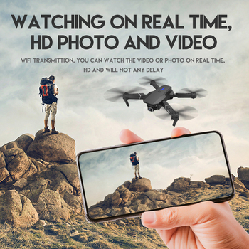 2021 New Quadcopter E525 WIFI FPV Drone With Wide Angle HD 4K 1080P Camera Height Hold RC Foldable Quadcopter Dron Gift Toy 2