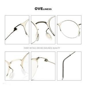 Image 4 - 純チタンレトロラウンドメガネフレーム女性男性 2020 光学コンピュータ眼鏡近視処方透明ガラス眼鏡