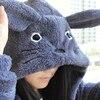 Hooded Sweatshirt Kawaii Totoro Men Women Harajuku Soft Plush Hoodies Plus Size Oversized Cosplay Jacket Coat Loose Sweatshirt 4