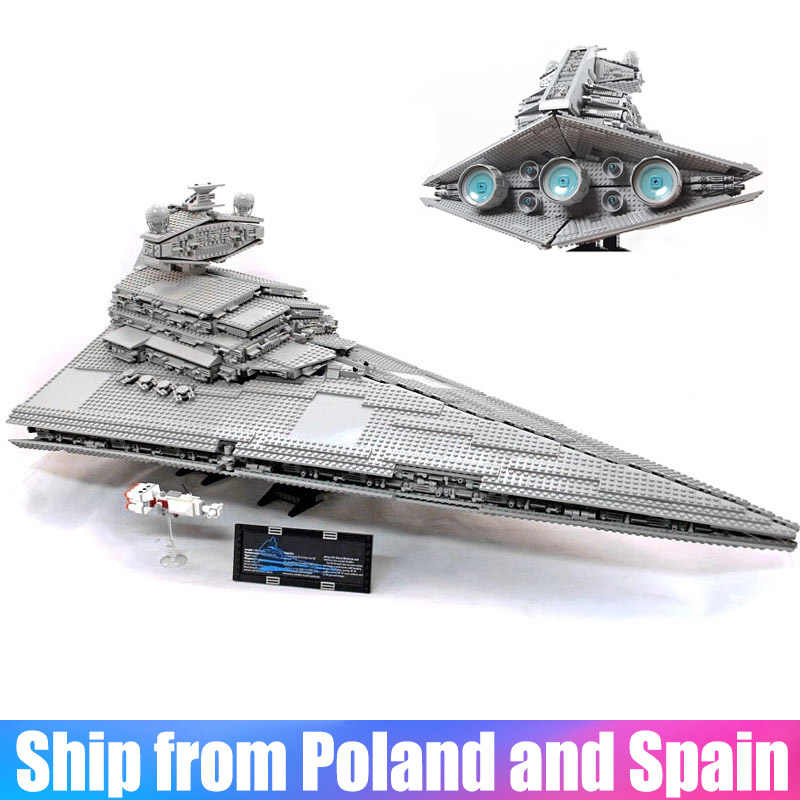 Star 05027 Wars Emperor Fighters Starship Destroyer Model Building Blocks Bricks Compatible with 10030 75252 Kid Toys