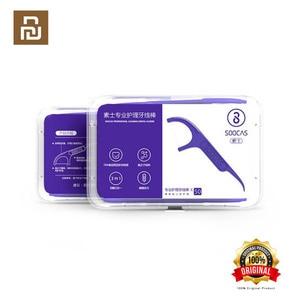 Image 1 - Xiaomi Soocas Toothpicks Dental Flosser Tape Scraper 3 in 1 Xiaomi Soocare Cleaning Professional Dental floss 50 PCS Toothpicks