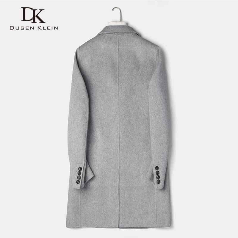 Wool Men Long Blend Coat Winter Warm Business Casual Slim Jacket z8803b