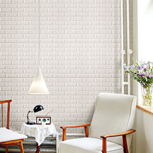 3D Wall Panel Brick wall Stickers DIY PE Foam Wallpaper Panels Room Decal Safety Home