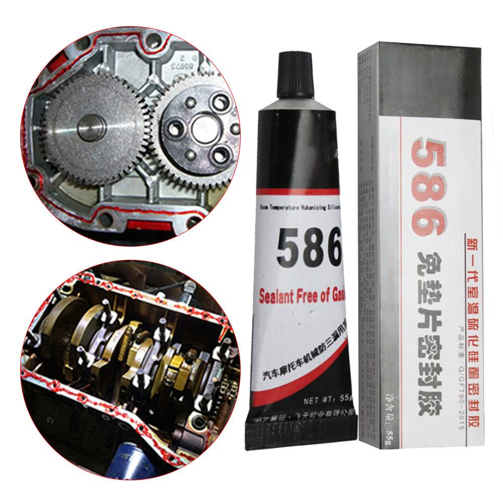 55g 586 Black Silicone Free-Gasket Waterproof Anti-leakage To Oil Resist High Temperature Sealant Repairing Glue For Car Vehicle
