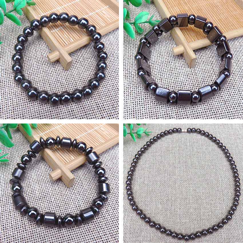 Magnetic Slimming Anklet Bracelet Necklace Black Gallstone Weight Loss Stimulating Acupoints Therapy Fat Burning Health Care