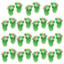 15Pairs Child Kids Floor Stickers Self-Adhesive Social Distance Footprint Decals P31B