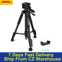 Andoer Lightweight Travel Camera Tripod TTT 663N for Photography Video Shooting Support DSLR SLR Camcorder with Carry Bag