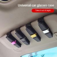 Parasol de coche de 4 colores, sujetador de Clip para gafas de sol, tarjeta de billete, Universal, multifunción, Interior de coche