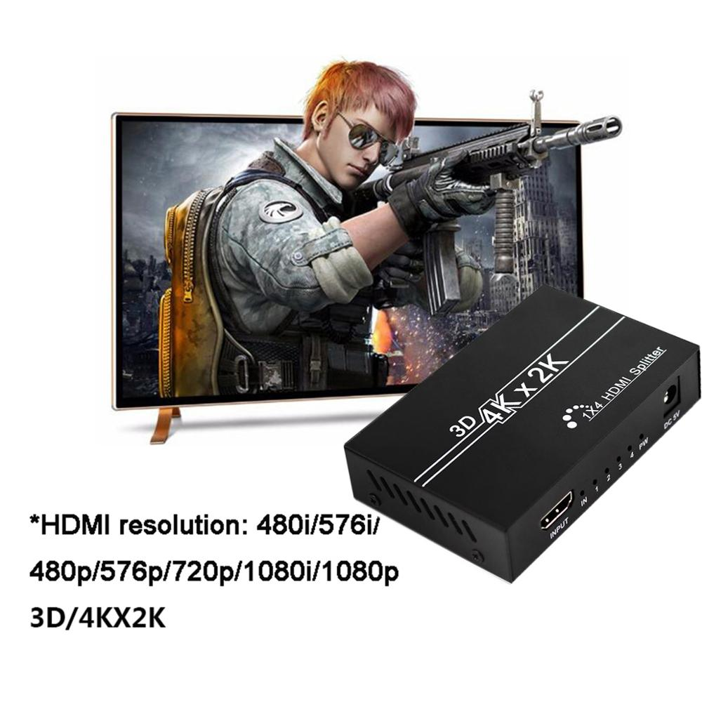 cheapest HDMI Splitter 1X4 1x2 HDMI 1 In 4 Out 1 1 In 2 Out 080P 3D Adapter Switch for DVD HDTV Laptop Monitor
