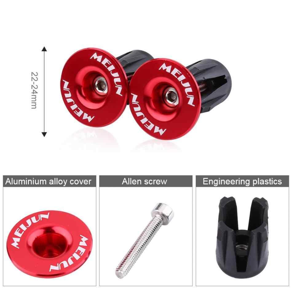 Aluminum Alloy Bike Handle End Plugs Handlebar Grips Covers Handle Bar Cap US