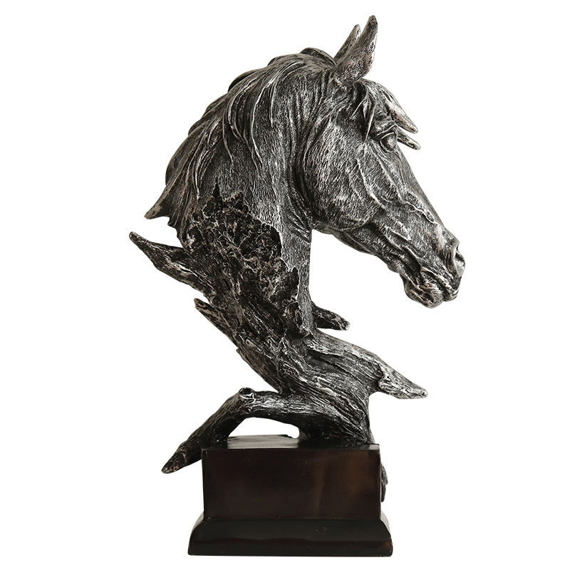 Horse Head Abstract Sculpture Miniature Figurine Home Decoration Accessories For Home Desk Statues For Decoration Horse Statue