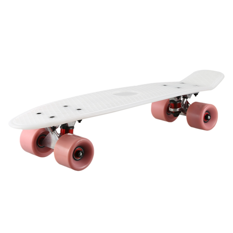 Four Wheel 22 Inches Mini Cruiser Skateboard Street Long Skate Board Outdoor Sports for Adult or Children|Electric Scooters| |  - title=
