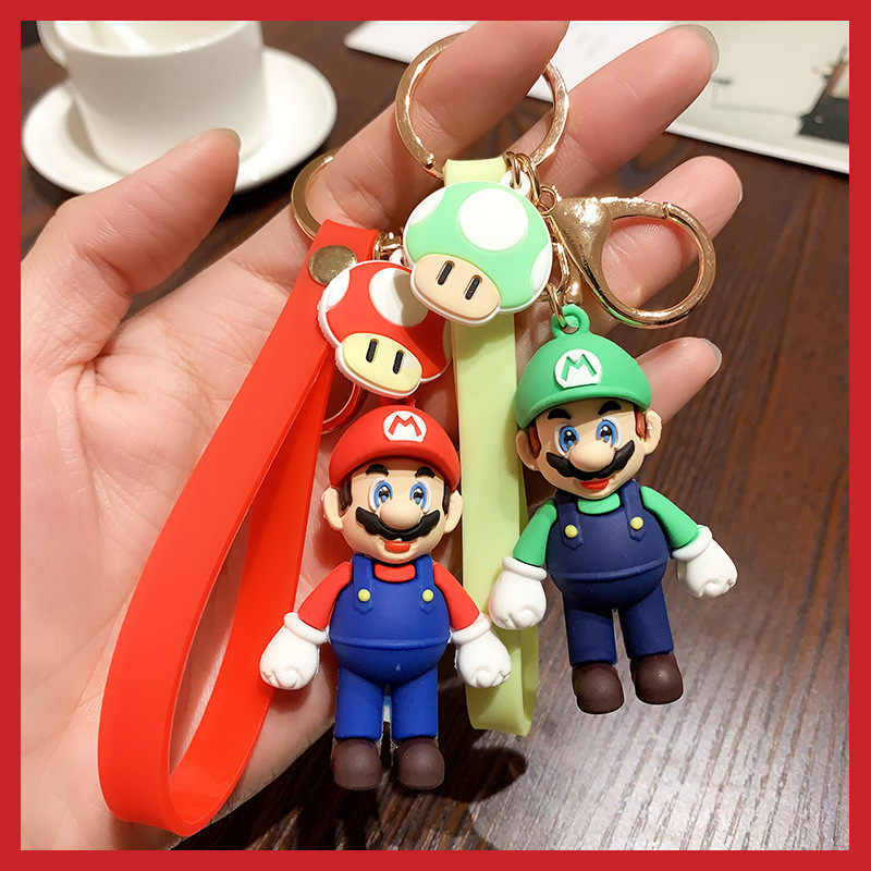 New SUPER MARIO BROS Cartoon Style Character LANYARD Mario Charm