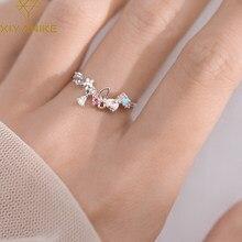 XIYANIKE – anneau lumineux en argent Sterling 925, couronne colorée originale coréenne, luxe Sexy, Index femme, ouverture ajustable, cadeau
