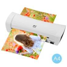 A4 foto laminador laminador quente frio velocidade rápida filme laminação plastificadora máquina de estratificação para a4 documenten foto