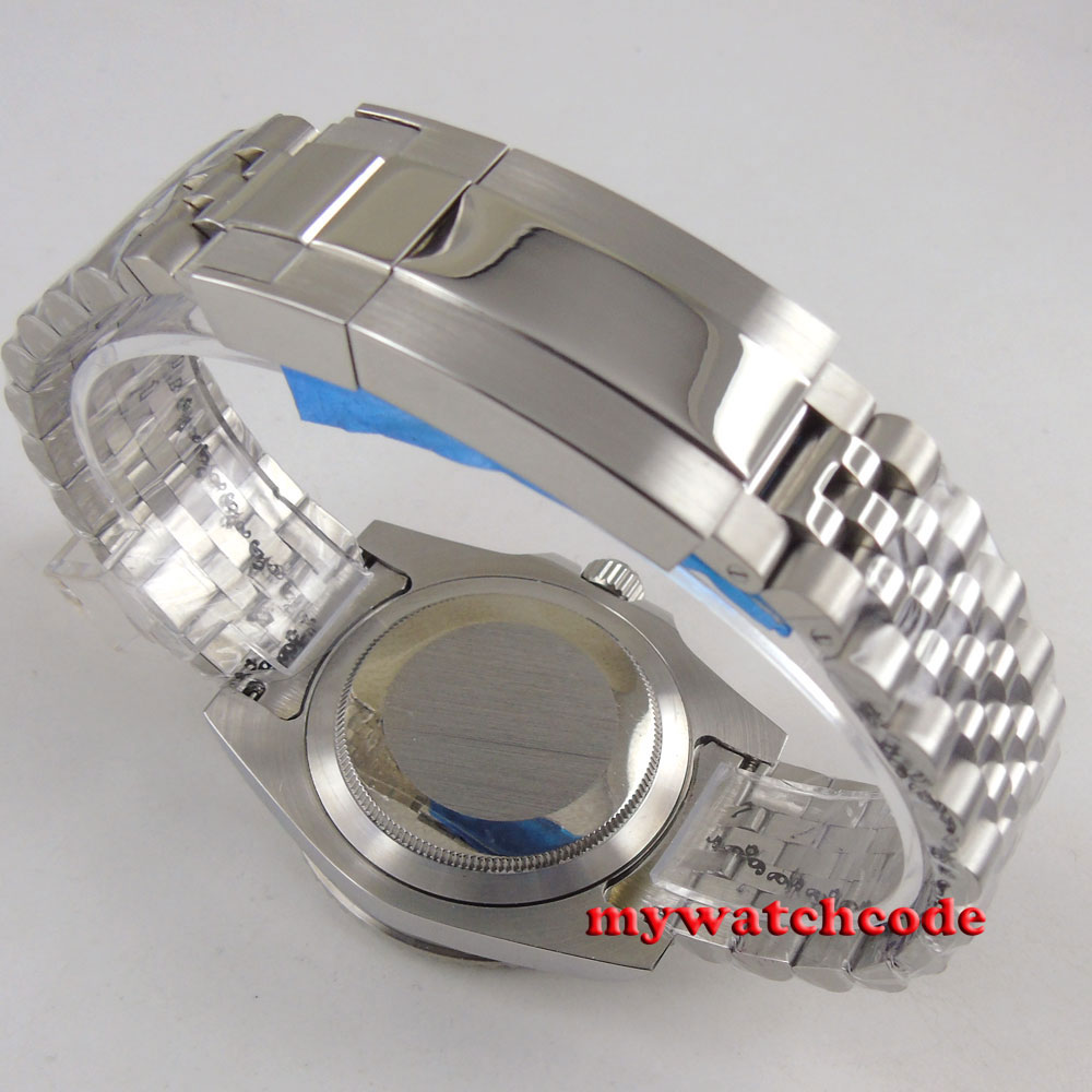 20mm 316L Jubilee Stainless Steel Solid Parnis Bracelet Fit 40mm Parnis Watch
