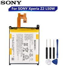 Original Replacement Sony Battery For SONY Xperia Z2 L50w Sirius SO 03 D6503 D6502 LIS1543ERPC Genuine Phone Battery 3200mAh