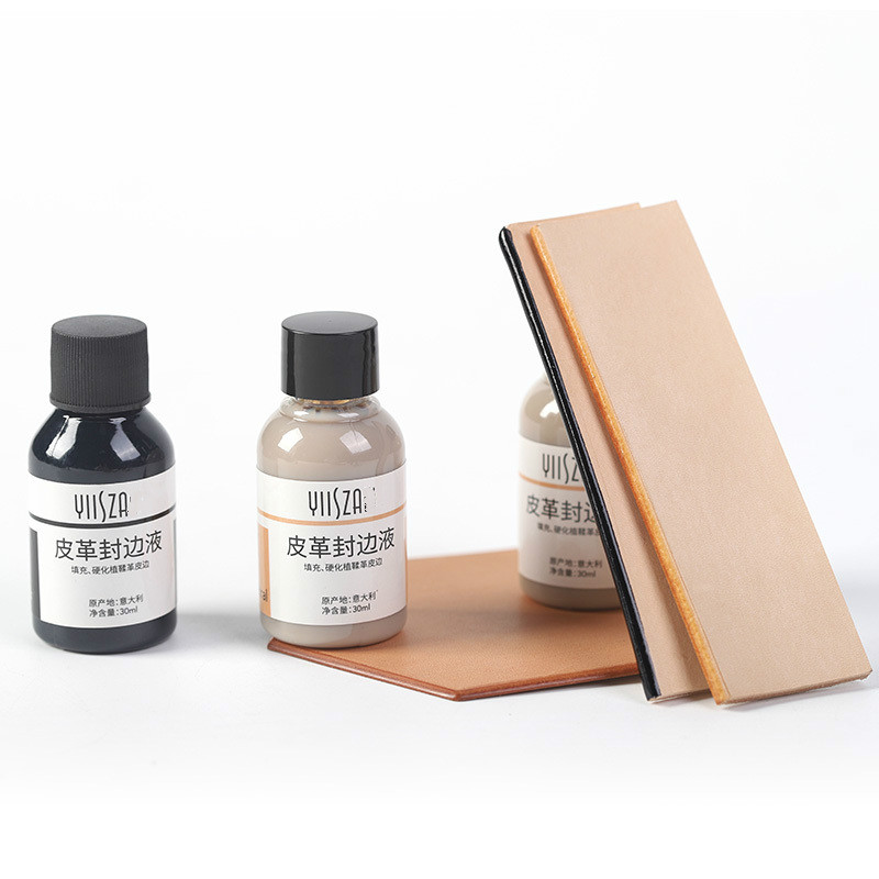 30ml/bottle Leather Sealing Watercolor Paint Leather Edge Paint Kote Edge Polish Treatment Leather Craft Tool Bright Handmade