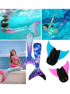 Flipper Swimming-Assistant-Tool Snorkeling-Foot Mermaid-Tail-Swimming-Fin Diving Adults