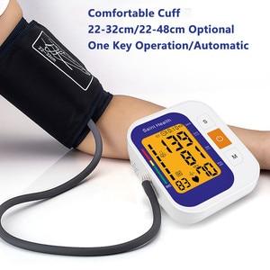 Image 5 - Saint Health Automatico Digitale Superiore Del Braccio di Pressione Sanguigna Monitor di Battimento di Cuore Vota Pulse Meter Tonometro Sfigmomanometri cardiofrequenzimetro