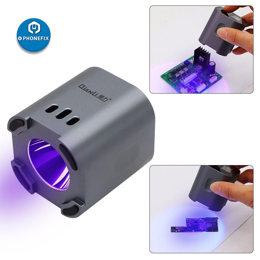 Motherboard Lamp PCB Curing Intelligent Lamp Qianli Optical Adhesive Soldering Oil Oil Phone UV Solder Curing Repair Green Lamp