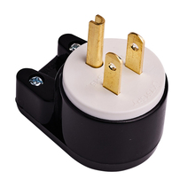 10pcs DIY Rewirable AC Plug Nema 5-15p Rotating 360 degree elbow USA US Brazil Japan Canada Thailand detachable Assembly plug