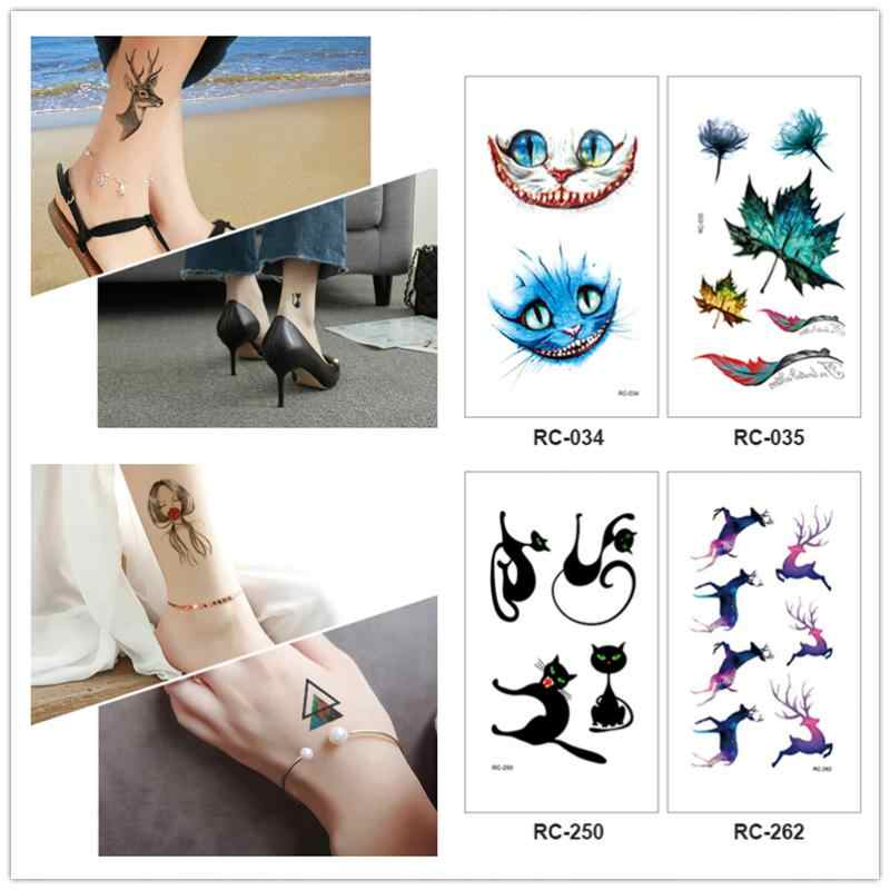 Sexy Women Waterproof Temporary Sticker Fashion Colorful Flowers Tattoo Body Finger Arm Fake Tattoos Body Art Water Transfer