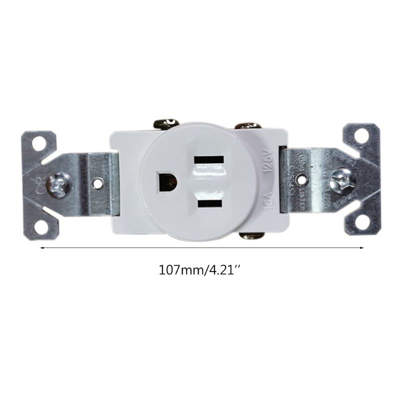 15/20A 125/250V Wiring Single Receptacle Tamper Resistant Outlet Grounding White