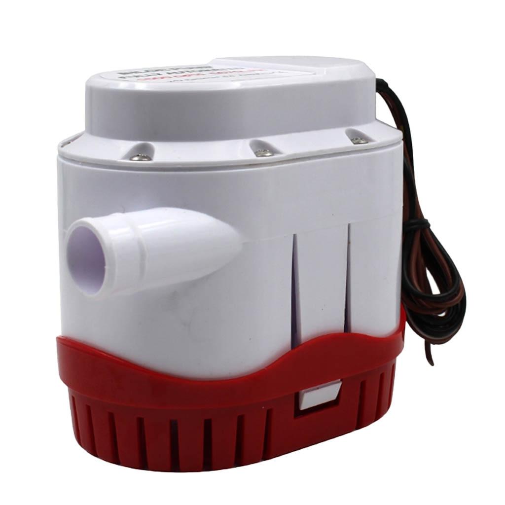 Pompe de cale automatique avec interrupteur à flotteur pour raccord de bateau marin (24 volts, 1500 GPH)