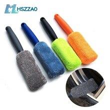 Car Microfiber Wheel Wash Brush Vehicle Cleaning Brush Wheel Rims Tire Washing Brush Car Wash Car Detailing Polish For A Car
