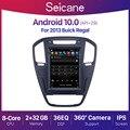 Автомагнитола Seicane, 9,7 дюйма, Android 10,0, 2 + 32 ГБ, DSP, видеоплеер для Opel Insignia Buick Regal 2008-2013, GPS-навигация, 4G