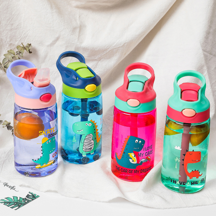 Baby Dinosaur Learning Drinking Tritan Bebe Copos 480ml Cup With Strap Baby Feeding Water Drink Leak Proof Bottle With Straw