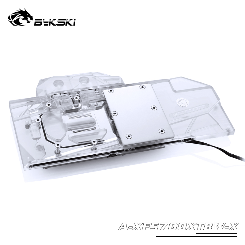Bykski Water Block use for XFX RX5700XT Thicc II Ultra / Raw II Ultra / Copper Radiator Block / A-RGB / RGB Support to AURA