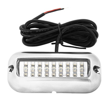 Blue 27 LED Underwater Boat/Marine Transom Lights Stainless Steel Pontoon WWO66