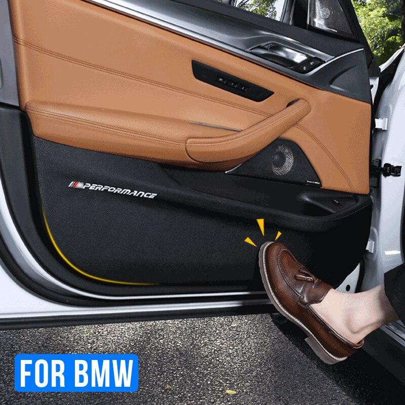 Pegatinas de película de protección de puerta de coche, antigolpes, de cuero, PVC, para BMW F01, F10, F15, F16, F25, F26, F30, F34, G01, G30, G32
