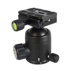 Głowica kulowa statyw aluminiowy głowica kulowa Heavy Duty z Quick Release Plate dla aparatu Canon Nikon Sony DSLR|Głowice do statywów|   -