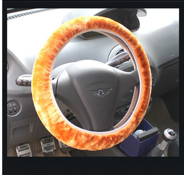 Car Extendable Steering Wheel Cover Car Grip Cover Winter Plush Steering Wheel Cover