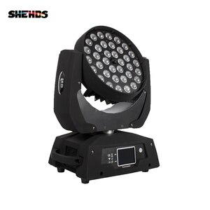 Image 2 - Zoom LED Wash de 36x18W RGBWA + UV, pantalla táctil de escenario, DMX, luz LED con cabeza móvil, para DJ, Fiesta Disco y clubes, 2 unids/lote