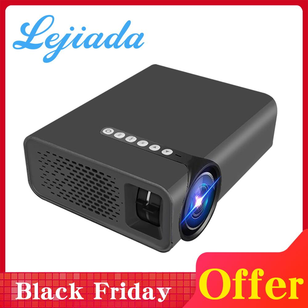 LEJIADA YG530 LED projecteur de téléphone Portable avec HDMI USB Home HD 1080P projecteur pour système de cinéma maison film projecteur Portable